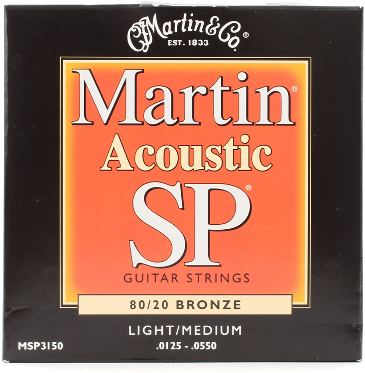 Martin MSP-3150 SP 80/20 Bronze Light/Medium Acoustic Strings image 1