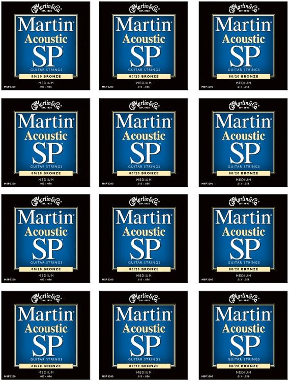 Martin MSP-3200 SP 80/20 Bronze Medium Acoustic Strings 12-Pack image 1