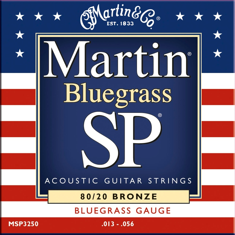 Martin MSP-3250 SP 80/20 Bronze Bluegrass Acoustic Strings image 1