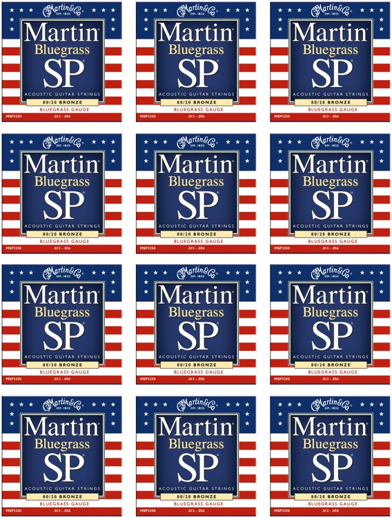 Martin MSP-3250 SP 80/20 Bronze Bluegrass Acoustic Strings 12-Pack image 1