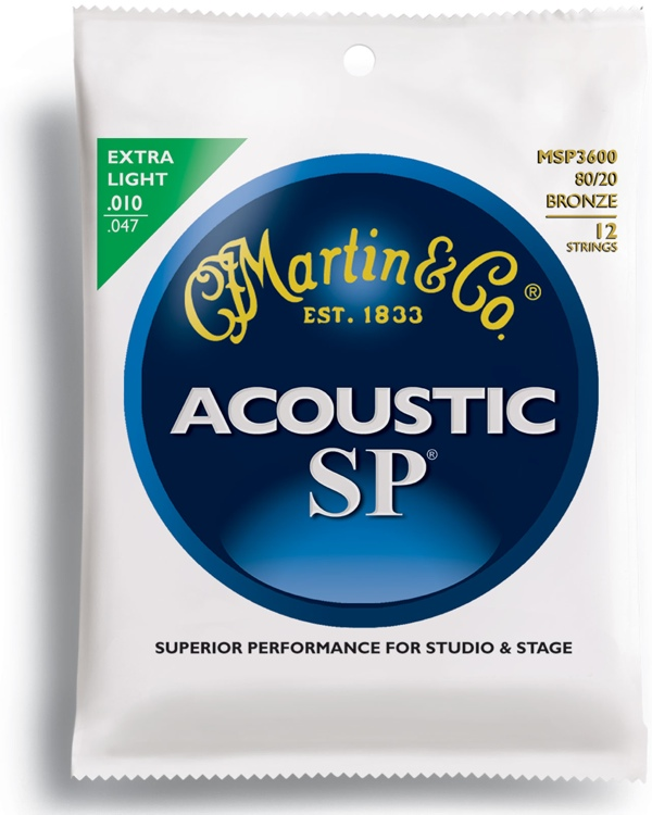 Martin MSP-3600 SP 80/20 Bronze Extra Light 12-String Acoustic Strings image 1