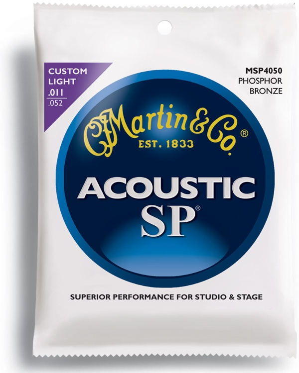 Martin MSP-4050 SP 92/8 Phosphor Bronze Custom Light Acoustic Strings image 1