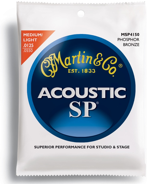 Martin MSP-4150 SP 92/8 Phosphor Bronze Light/Medium Acoustic Strings image 1