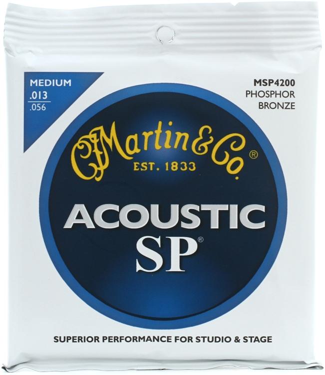 Martin MSP-4200 SP 92/8 Phosphor Bronze Medium Acoustic Strings image 1