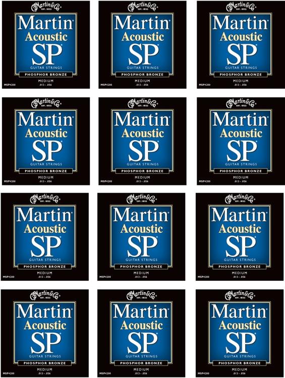 Martin MSP-4200 SP 92/8 Phosphor Bronze Medium Acoustic Strings 12-Pack image 1