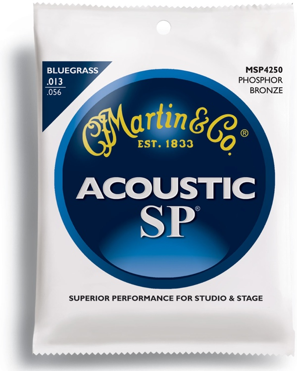 Martin MSP-4250 SP 92/8 Phosphor Bronze Bluegrass Acoustic Strings image 1
