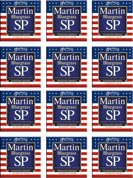 Martin MSP-4250 SP 92/8 Phosphor Bronze Bluegrass Acoustic Strings 12-Pack image 1