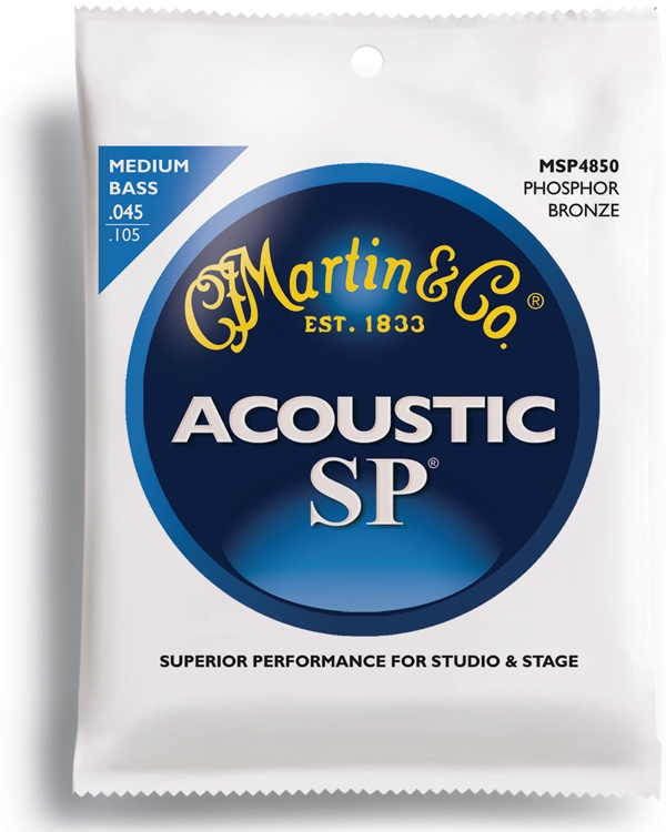 Martin MSP4850 SP - 92/8 Medium Acoustic Bass Strings image 1