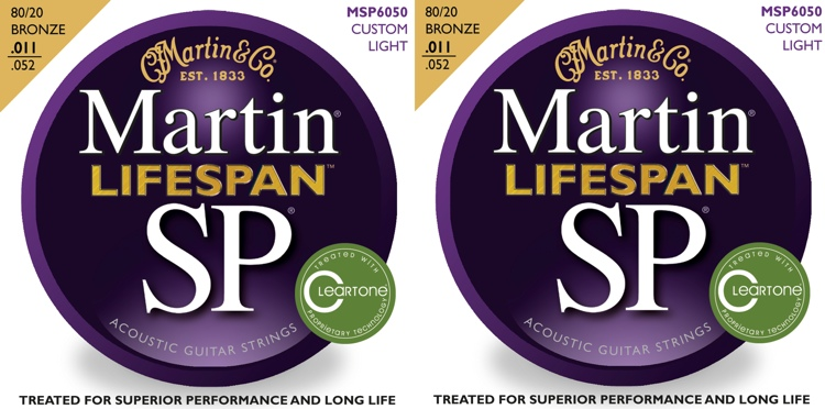 Martin MSP6050 SP Lifespan 80/20 Bronze Custom Light Acoustic Strings 2-Pack image 1