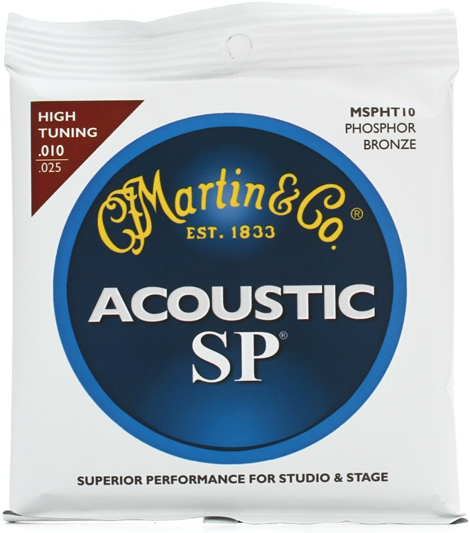 Martin MSPHT10 SP 92/8 Phosphor Bronze High Tuning Acoustic Strings image 1