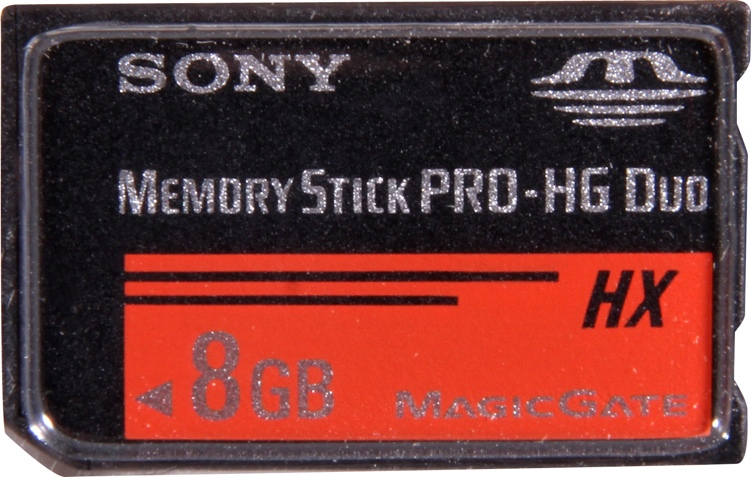 Sony 8GB MSHX8B Memory Stick PRO HG Duo Card image 1