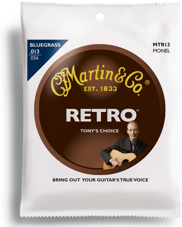 Martin Retro Acoustic Guitar Strings - .013-.056 Tony Rice Bluegrass image 1