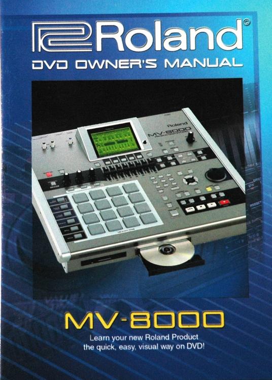 Roland MV-8000 DVD Owner\'s Manual image 1