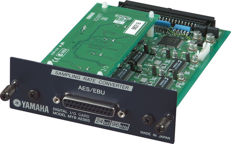 Yamaha MY8AE96S 8-channel 96kHz AES/EBU I/O Card with Sampling Rate Converter image 1