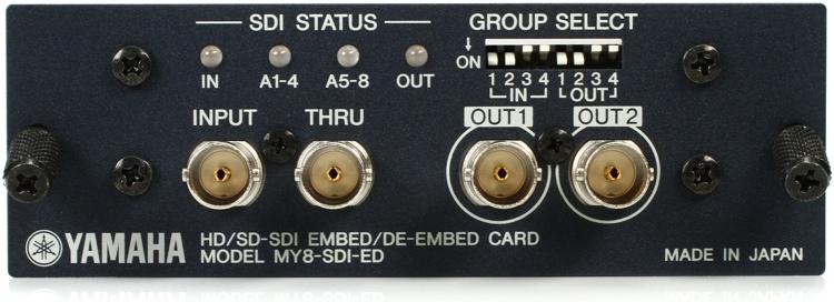 Yamaha MY8-SDI-ED 8-channel HD-SDI/SD-SDI Embedder/De-embedder Interface Card image 1