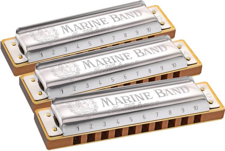 Hohner Marine Band Pro Pack - Pro Pack 3-pk (G, A, & C) image 1