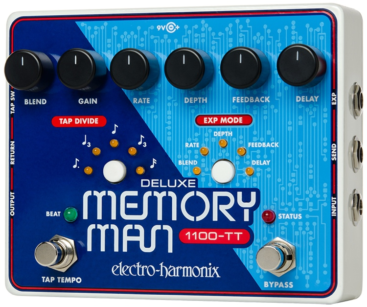 Electro-Harmonix Deluxe Memory Man 1100-TT Delay Pedal with Tap Temp image 1