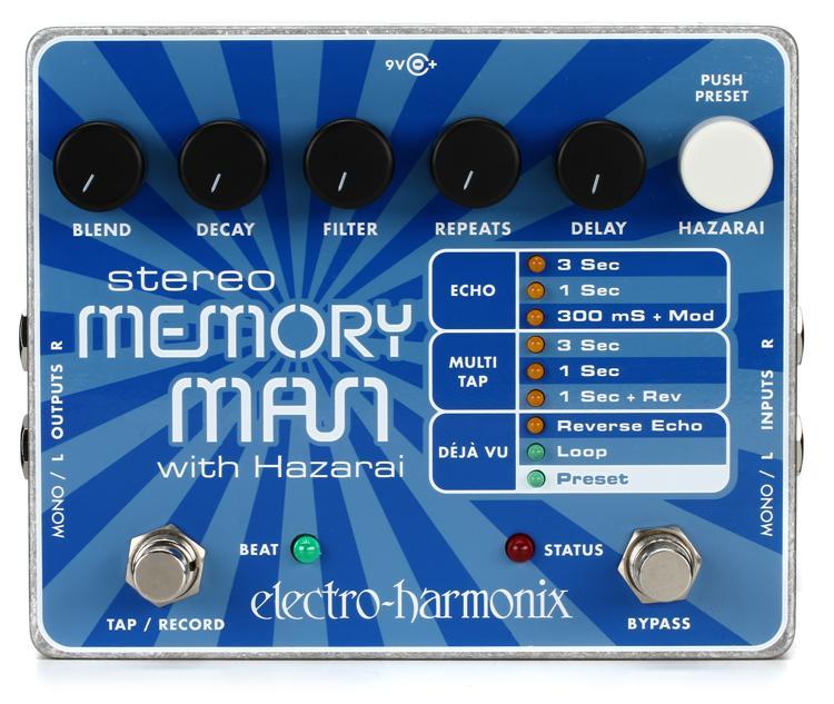 Electro-Harmonix Stereo Memory Man with Hazarai Delay / Looper Pedal image 1