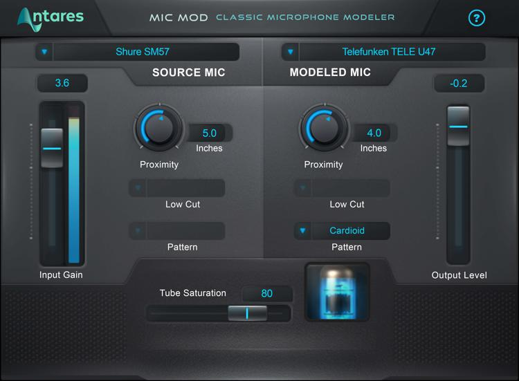 Antares Mic Mod EFX Classic Microphone Modeling Plug-in image 1