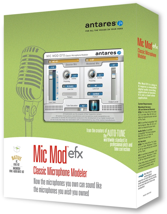 Antares Mic Mod EFX Classic Microphone Modeling Plug-in (boxed) image 1