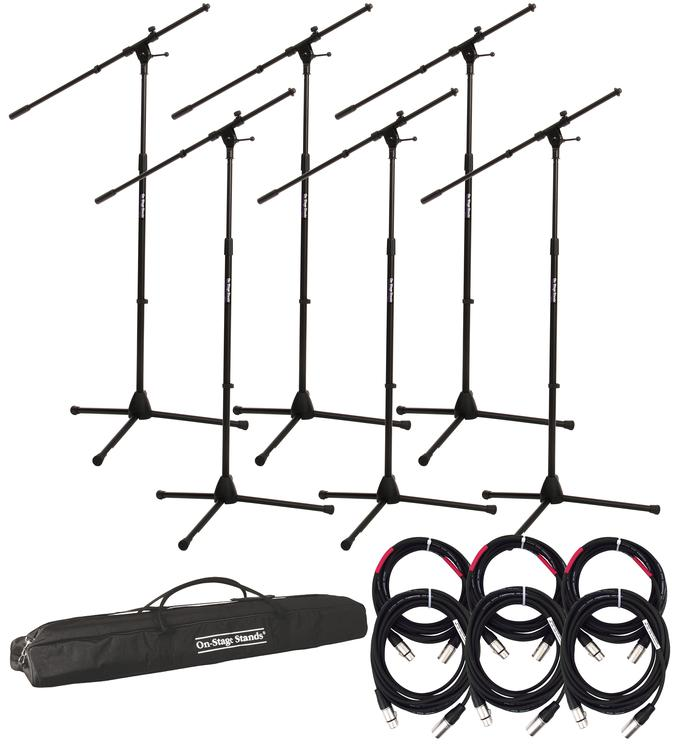 Gator Frameworks Rok-It Series Mic Stand 6-pack w/Cables and Bag image 1