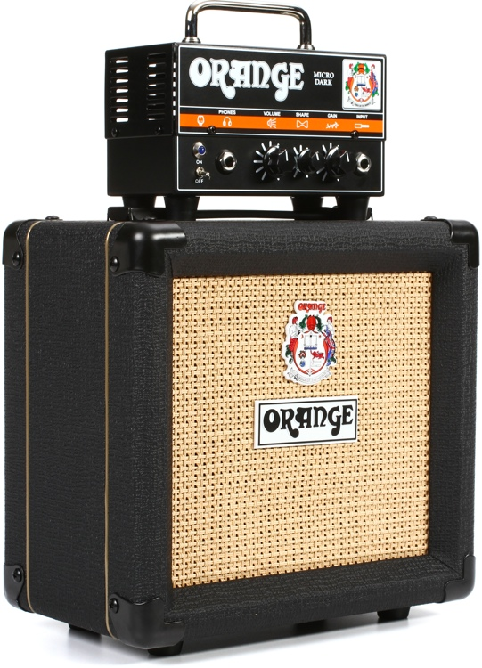 orange micro dark stack 20 watt head and 1x8 cabinet sweetwater. Black Bedroom Furniture Sets. Home Design Ideas