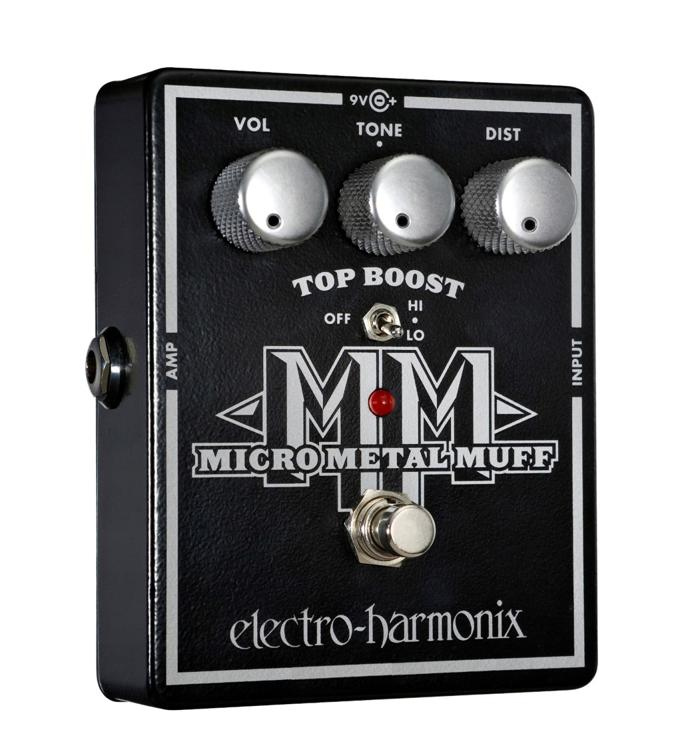 Electro-Harmonix Micro Metal Muff Distortion Pedal with Top Boost image 1