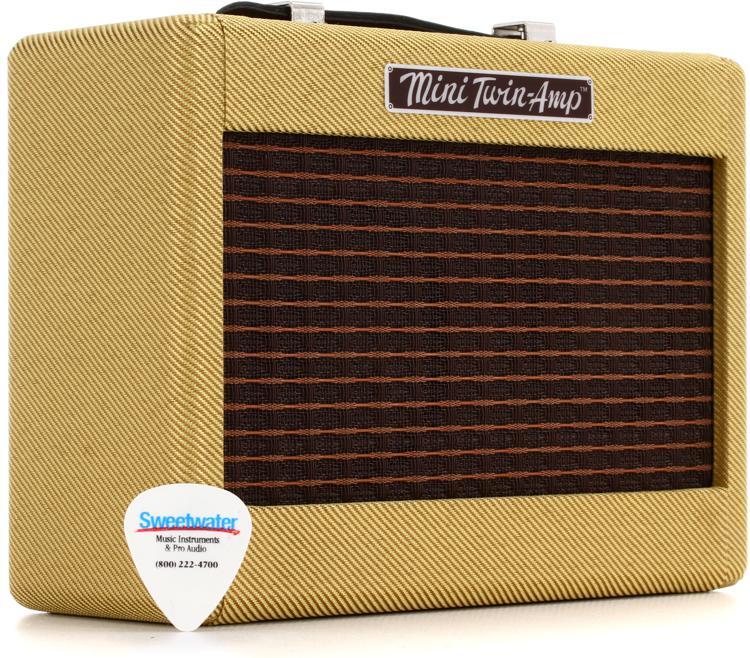 Fender Mini Amp : fender mini 39 57 twin amp 1 watt 2x2 mini combo amp sweetwater ~ Russianpoet.info Haus und Dekorationen