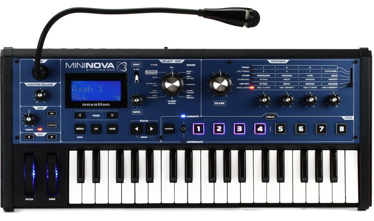Novation MiniNova 37-Key Synthesizer with Vocoder image 1