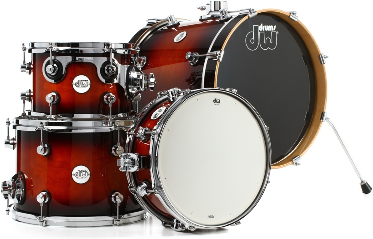 DW Design Series Mini-Pro 4-piece Shell Pack - Tobacco Burst image 1