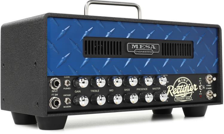 Mesa/Boogie Mini Rectifier 25 - 25-watt Tube Head with Blue Diamond Faceplate image 1