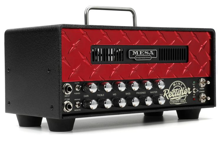 Mesa/Boogie Mini Rectifier 25 - 25-watt Tube Head with Red Diamond Faceplate image 1