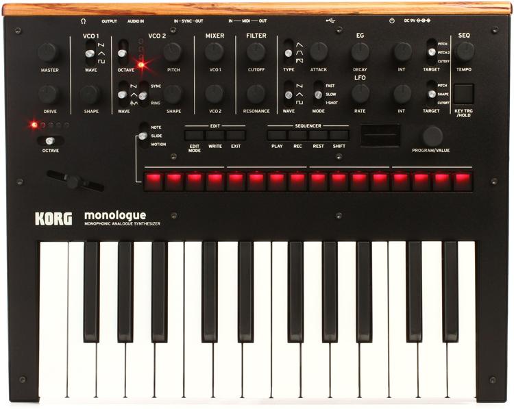Korg monologue Analog Synthesizer - Black image 1