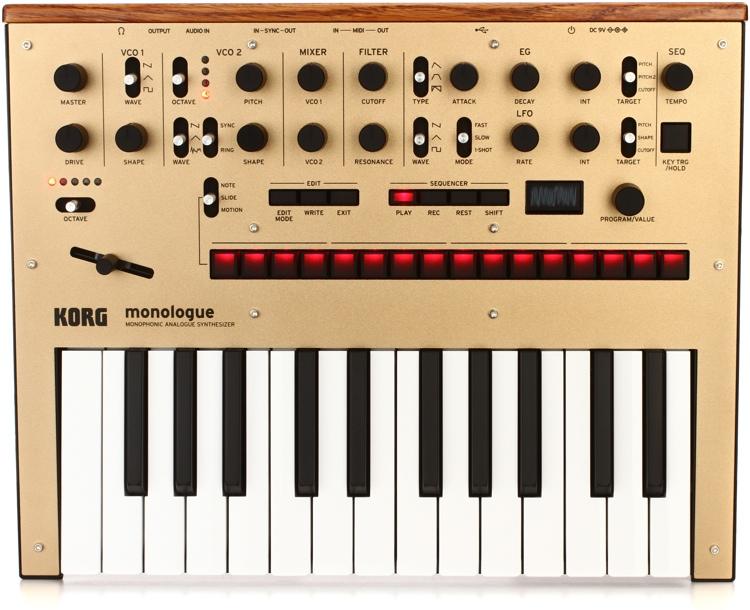 Korg monologue Analog Synthesizer - Gold image 1