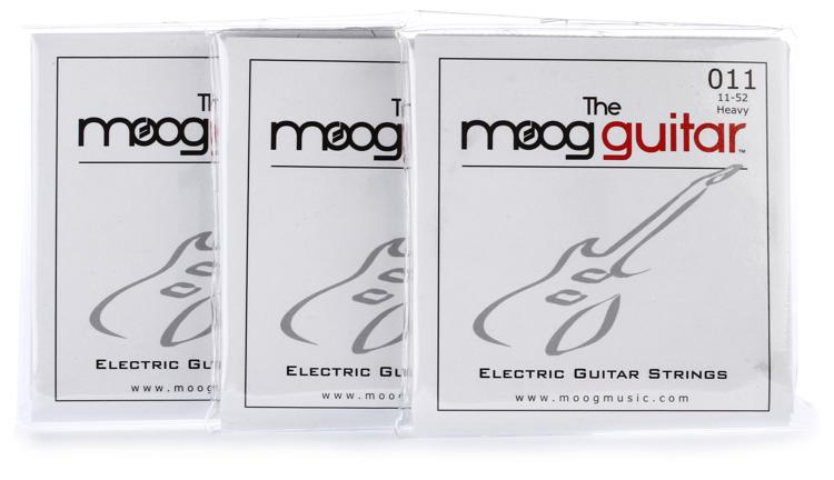 Moog Gauge Guitar Strings 3-pack - Heavy .011-.052 image 1
