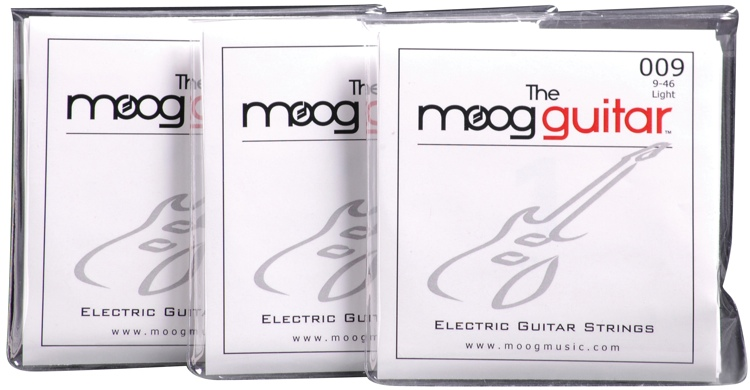 Moog Electric Guitar Strings 3-pack - Light .009-.046 image 1