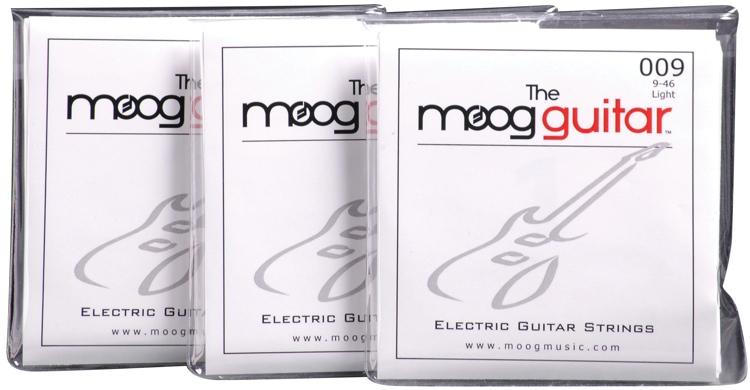 Moog Electric Guitar Strings 3-pack - Light .009-.046 image 1
