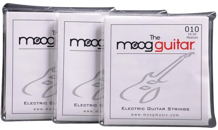 Moog Electric Guitar Strings 3-pack - Medium .010-.052 image 1