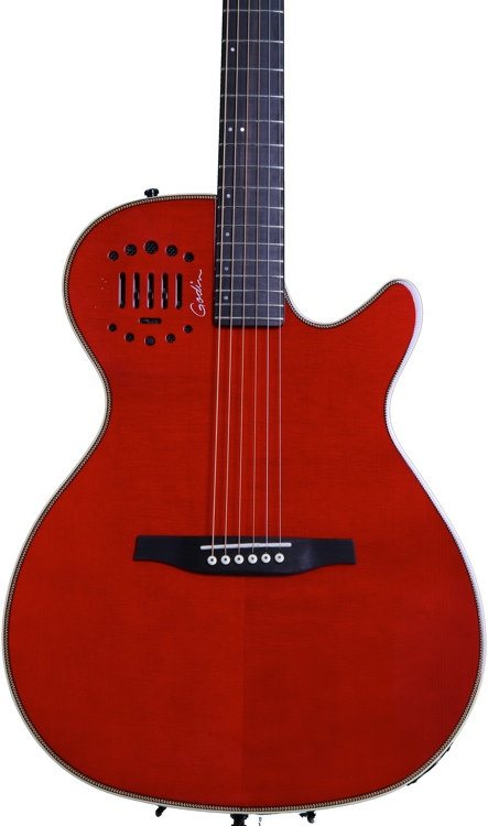 Godin MultiAc Steel Duet Ambiance - Transparent Red image 1