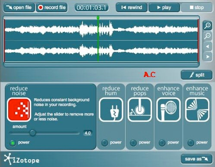 iZotope Music & Speech Cleaner image 1