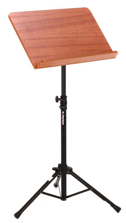 On-Stage Stands SM7312W Conductor Stand with Wide Rosewood Bookplate image 1