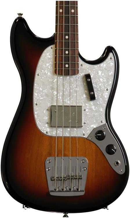 Fender Pawn Shop Mustang Bass Rosewood - 3 Tone Sunburst image 1
