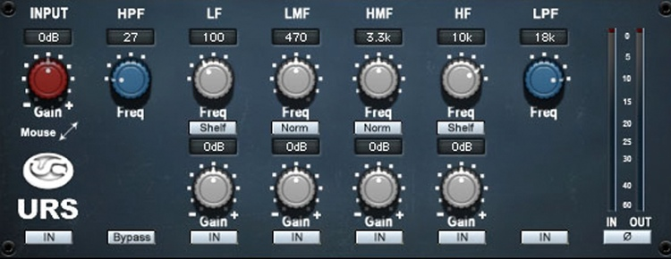 URS N4 Series EQ Plug-in - TDM image 1