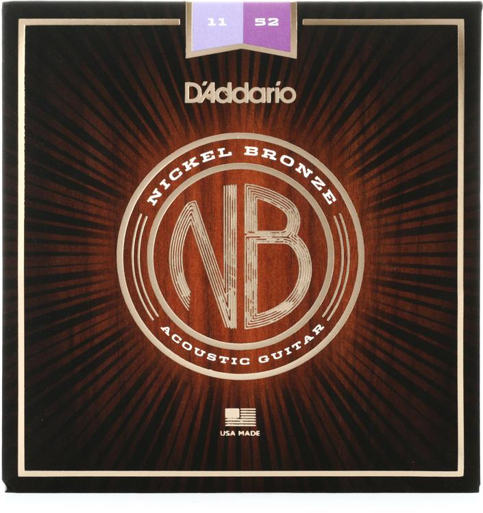 D\'Addario NB1152 Nickel Bronze Acoustic Strings .011-.052 Custom Light image 1