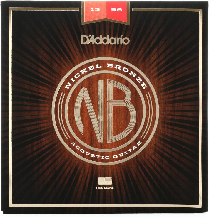 D\'Addario NB1356 Nickel Bronze Acoustic Strings .013-.056 Medium image 1