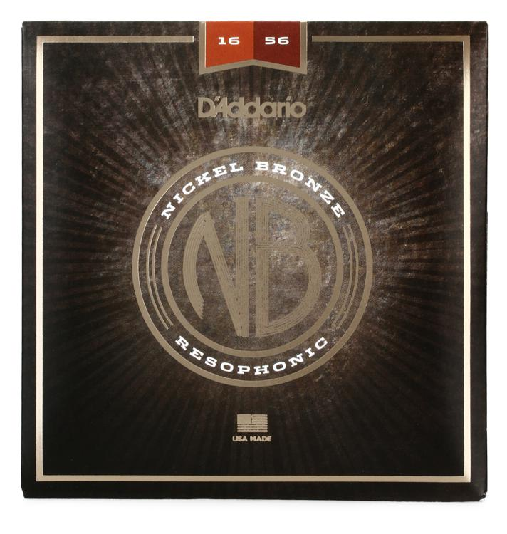 D\'Addario NB1656 Nickel Bronze Acoustic Strings 0.016-0.056 Resophonic image 1