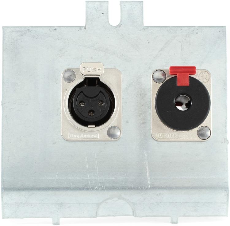 Pro Co FP2 Series Floor Plate - (1) XLR F + (1) TRS F image 1