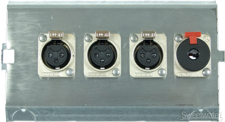 Pro Co FP4 Series Floor Plate - (3) XLR F + (1) TRS F image 1