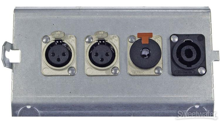 Pro Co FP4 Series Floor Plate - (2) XLR F + (1) TRS F image 1