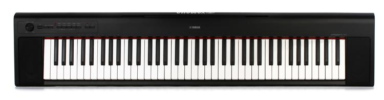 yamaha piaggero np 32 76 key piano with speakers black. Black Bedroom Furniture Sets. Home Design Ideas